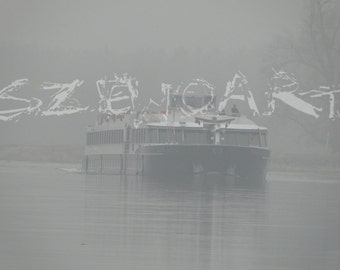 Boat trip, fog, landscape, river,trees,forest,nature,unique,natural beauty,beautiful ,wall art,decoration,Color