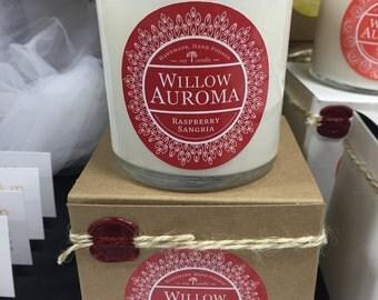 Rasbery sangria candle