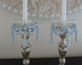 POWDER BLUE CANDELABRA'S