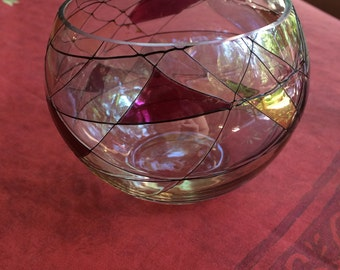 PartyLite Mosaic Bowl Candle Holder