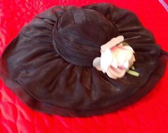 Black Victorian hat