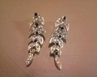 Sarah Coventry rhinestone earrings