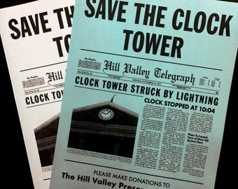 Back To The Future Save The Clock Tower Flier Prop