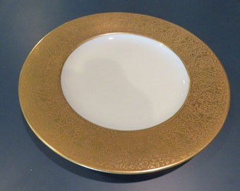 Hutschenreuther Gold Rimmed Plates - 10 3/4 inch