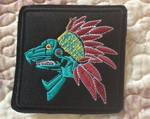 patch Quetzalcoatl - Aztec Mythology - deity - Mesoamerican culture - Mexico - Feathered Serpent - Kukulkan