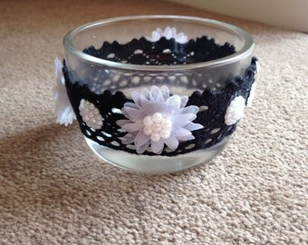 Vintage glass bowl handmade