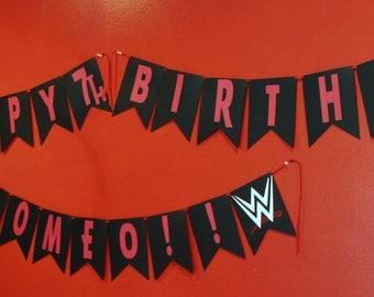 WWE Theme Birthday Banner