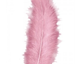 lot five pale pink feathers