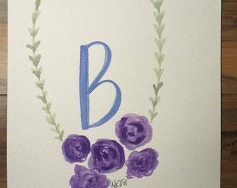 Intial wreath 'B'