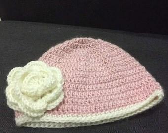 Handmade toddler crochet beanie
