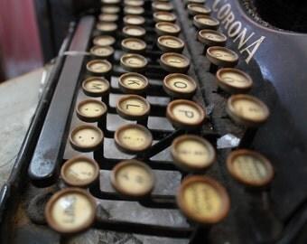 Typewriter | Photo Transfer to Wood