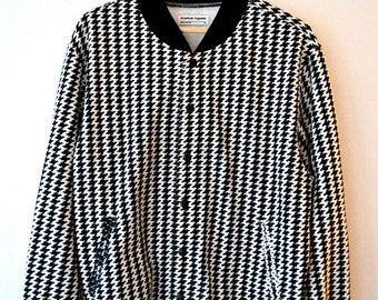 American Apparel Black & White printed bomber jacket
