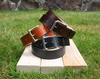 Leather Belt with Premium Buckle