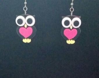Big-Eyed Owl Earrings
