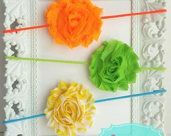 Bright colors baby headband set