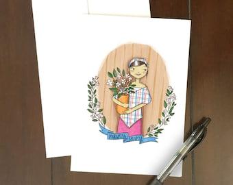 Maraming Salamat Greeting Card | Filipina Thank You | Sampaguitas | Illustrations | Philippines