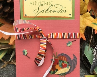 Autumn Splendor - Accordion Photo book - Photo Album - Fall Scrapbook - Brag book