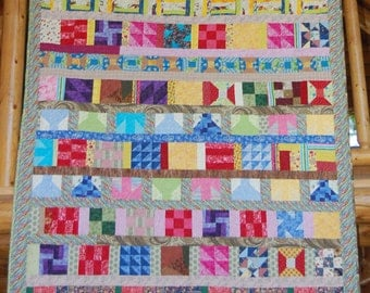 Colorful Scrappy Quilt