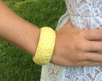 Wooden Fabric Bracelet