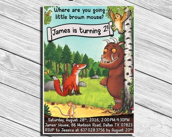 The Gruffalo Birthday Party Invitation * Personalized Digital Printable File