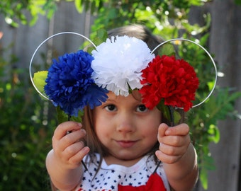 Red, White, and Blue Ears