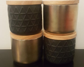 Black or Gold Candle Canisters
