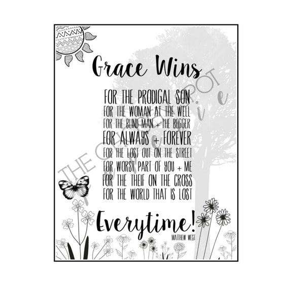 Coloring page christian song grace wins matthew west Coloring book songs