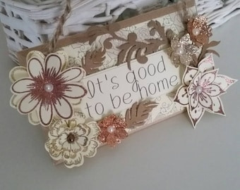 Handmade wall/door hanging plaque Home decor