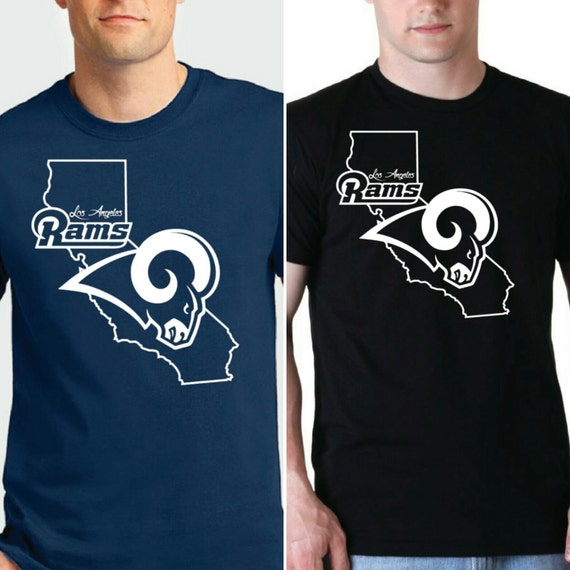 los angeles rams custom t shirts by diamondclubapparel on etsy