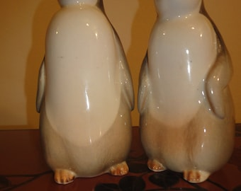 pair of made in USSR Penguins standing 6 1/2 inches
