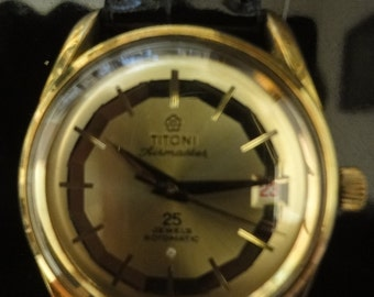Gentlemans vintage  collectors watch Titoni Airmaster automatic