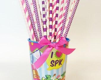 Shopkins Party Straws
