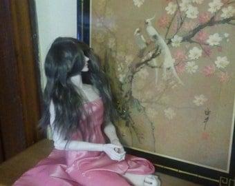 Pink dress for BJD 70cm