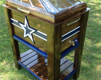 Wooden Cowboys ice chest cooler