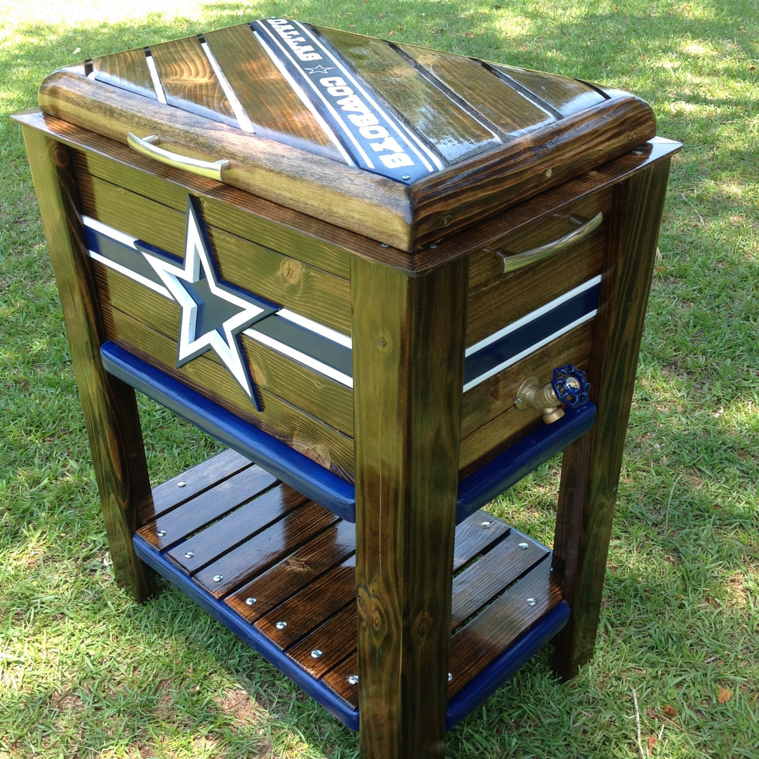 Wooden Ice Chest ~ Wooden cowboys ice chest cooler
