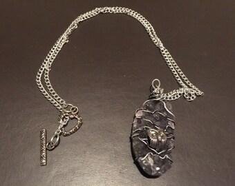 Owl Druzy Quartz pendant