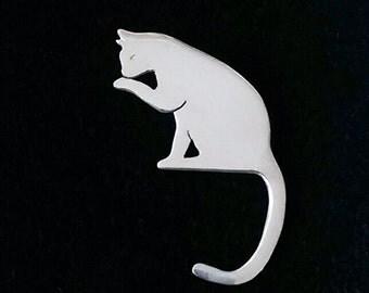 Cat brooch in Sterling Silver