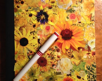 Yellow flower journal