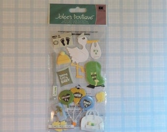 New baby arrival scrapbook stickers by Jolee's Boutique