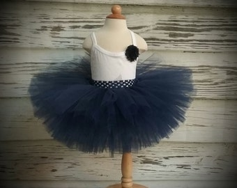 Free Shipping Navy Fluffy Tutu Skirt-Baby Tutu Skirt-infant Tutu Skirt-photo Prop
