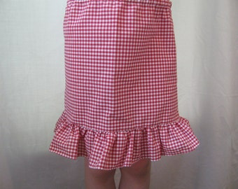 Girl's Pettislip - red gingham extender slip