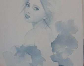 """raincloud"""" a4 size watercolour painting"""