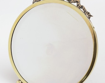 1920s Brass Easel Dressing Table Mirror (ID 47033)