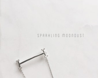 Silver Baguette Gemstone Bracelet, Crystal delicate Fine Bracelet, Gift T-bar Minimal Classic Bracelet, Elegant Stylish bangle