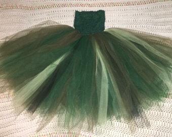 "8"" green lined tutu"
