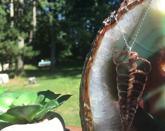 Spiral Seashell Necklace