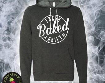 Fresh Baked Daily Unisex Fleece Hoodie - Stoner Hoodie