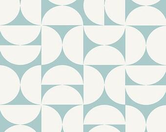 Blue Fabric- Curtain Fabric- Cotton Fabric- Geo Fabric- Scandinavian Fabric- Designer Fabric- Contemporary Fabric- Modern Fabric