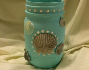 Florida Seashells Jar
