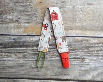 Friendly Farm pacifier clip